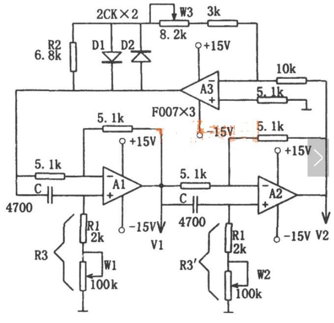 可调频率的正弦波振荡电路图分享