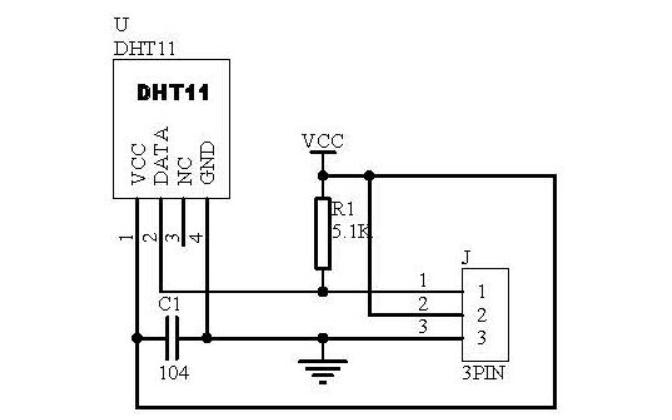 DHT11温湿度传感器的应用程序代码免费下载