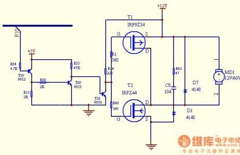 单片机对直流电机的调速测试程序设计