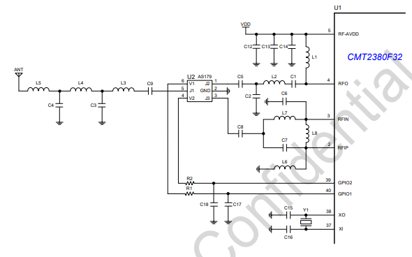 CMT2380F32超低功率射频收发器单片机的数据手册免费下载