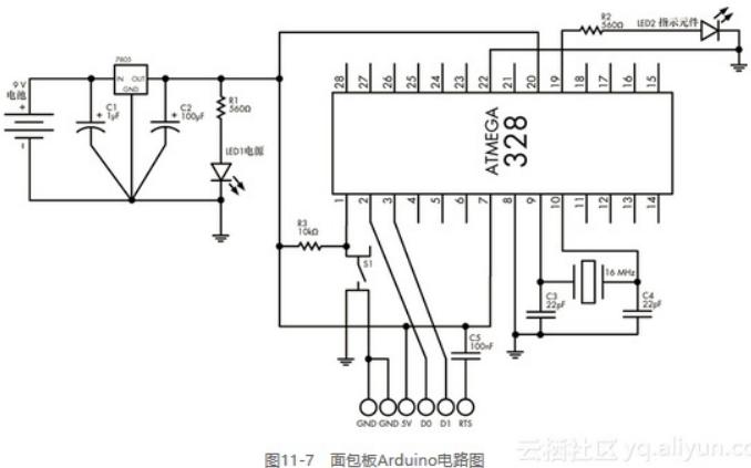 如何在面包板上做自己的Arduino