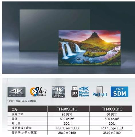 松下發布的SQ1C系列顯示器怎樣