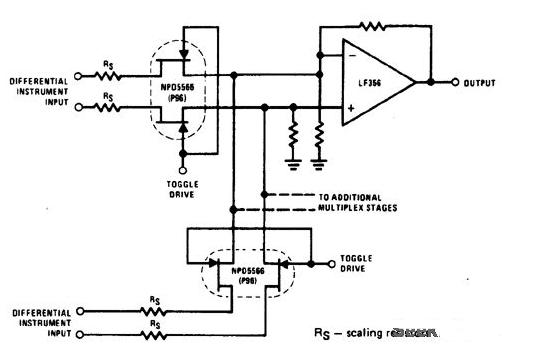 8選1模擬開關CD4051電路