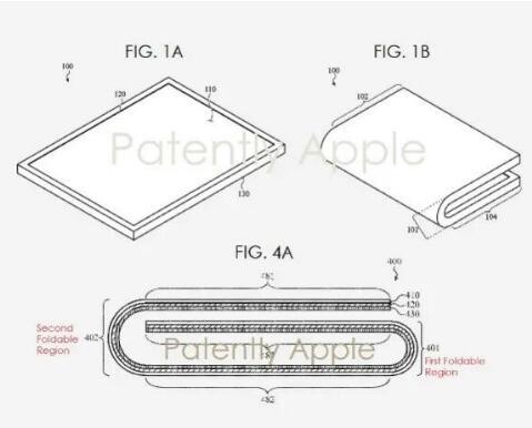 苹果公布了折叠屏手机专利方案将可能在2020年底...