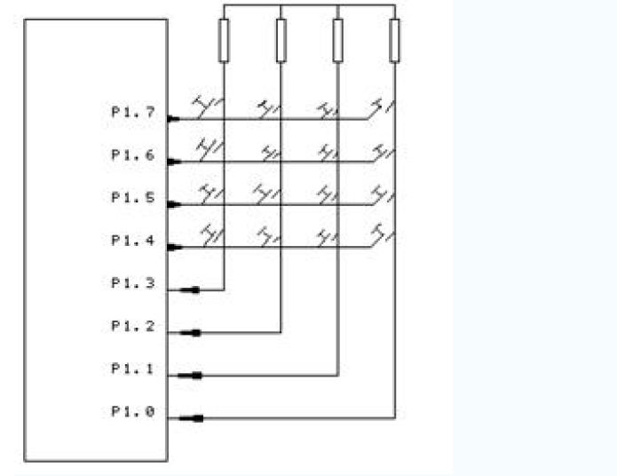 51单片机汇编语言教程之矩阵式键盘接口技术及程序设计的详细资料说明