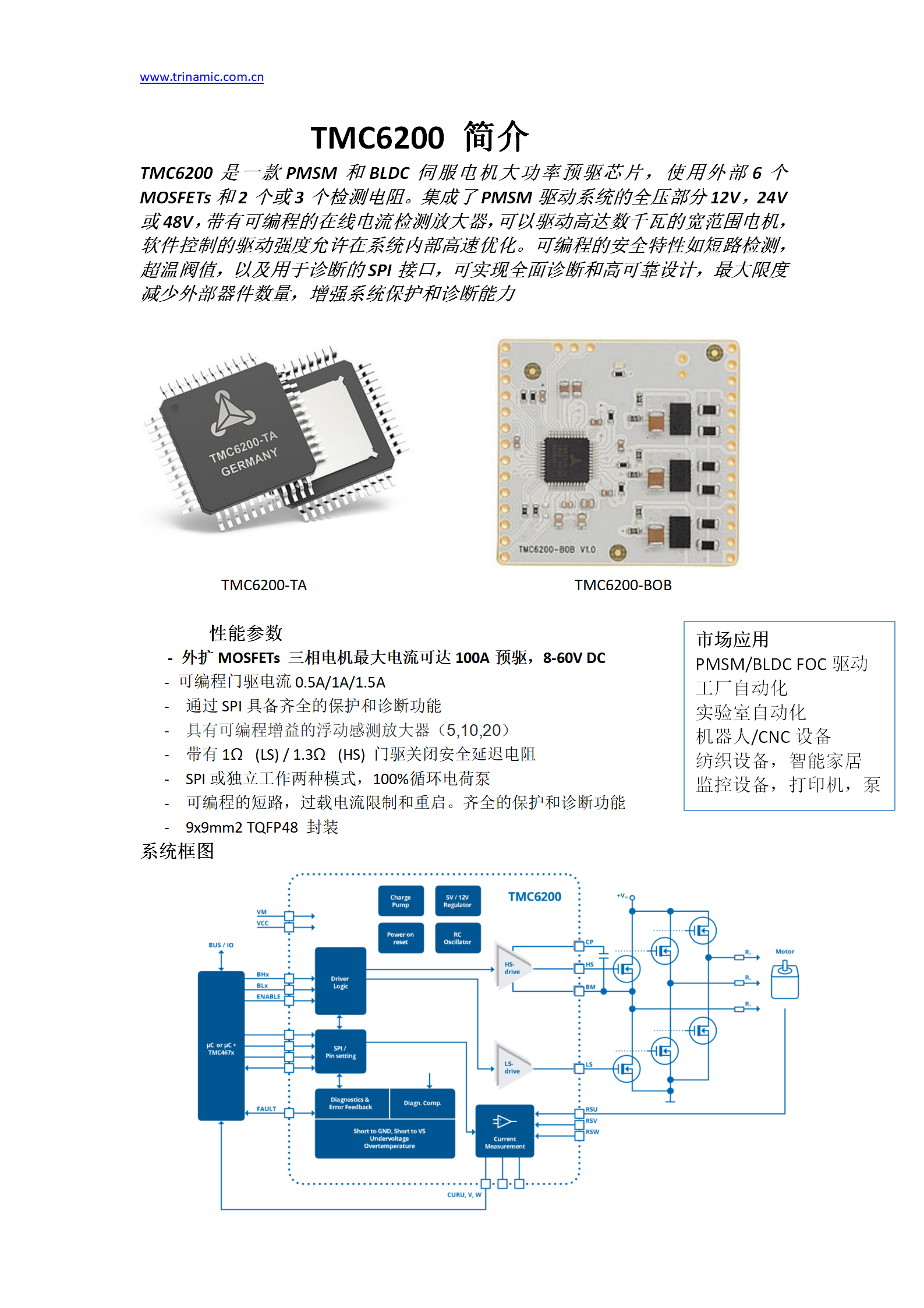 Trinamic推出PMSM BLDC三相預驅芯...