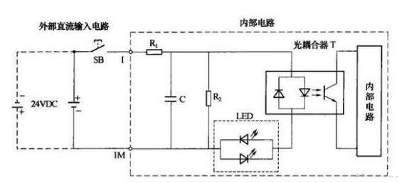 plc输入输出实物接线图