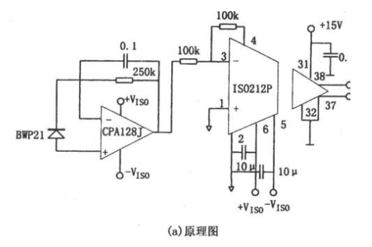 采用OPA128的精密光电检测电路