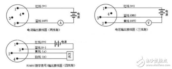 压力传感器接线图
