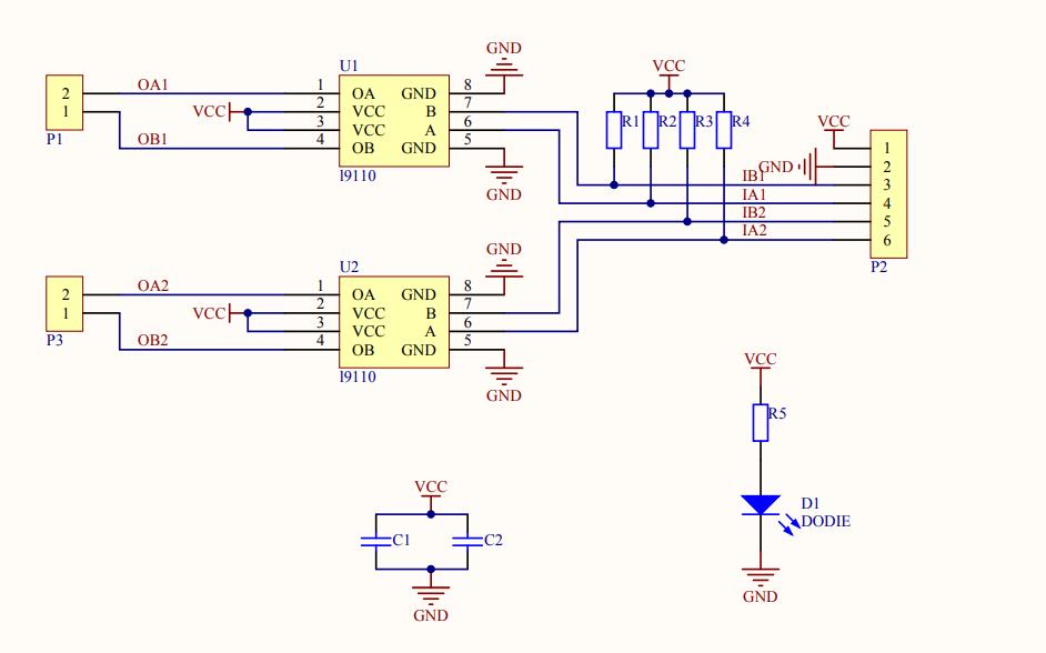 电机模块电路原理图免费下载