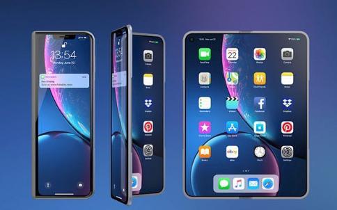 """专利书显示苹果公司可能要开发双折叠屏幕:可折成""""..."""