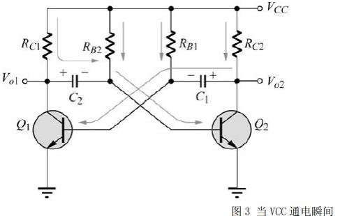 三极管无稳态多谐振荡器电路的详细资料说明