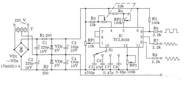 具有多種波形輸出功能的函數發生電路