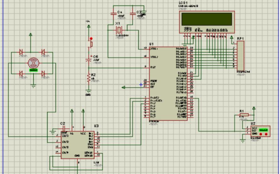 使用51单片机进行温度控制电机转速设计的资料说明