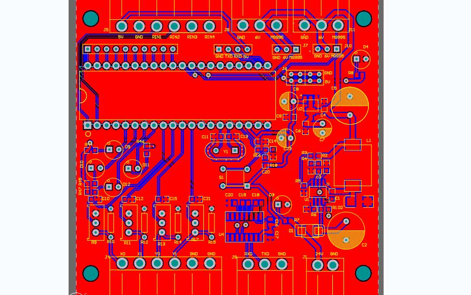 简单二层板的PCB原理图免费下载