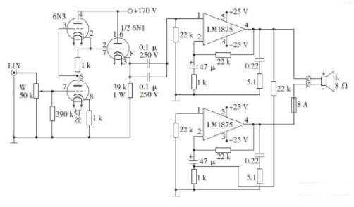 采用前胆后石和集成电路BTL功率放大器完成音箱的设计