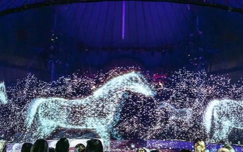 德国马戏团使用3D模拟技术表演真实动物
