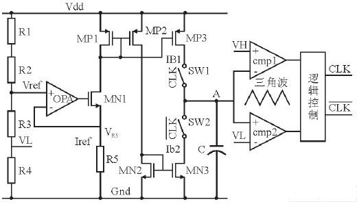 应用于D类音频功放的基于电流模式的振荡器的设计