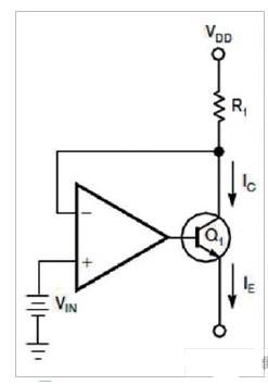 采用两个仪表放大器和晶体管实现高精度压控电流源的...