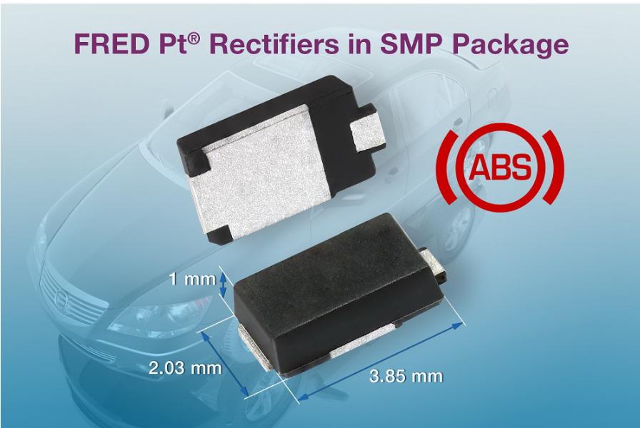 Vishay发布采用SMP封装的1A和2A整流器