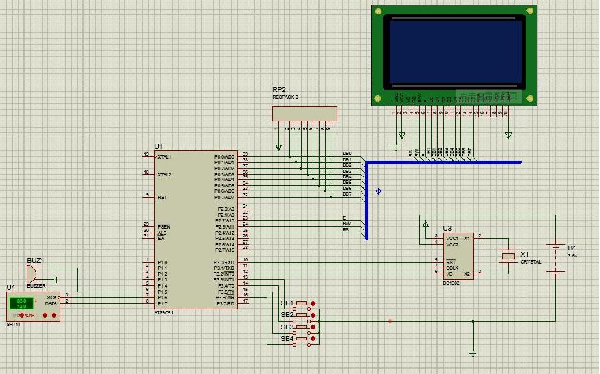 使用12864液晶模块设计电子钟的程序免费下载