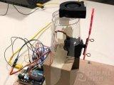 使用定位伺服電機自制自動鼓泡風機