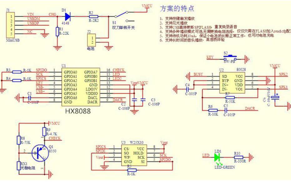 HX8088主流的语音芯片方案详细资料说明