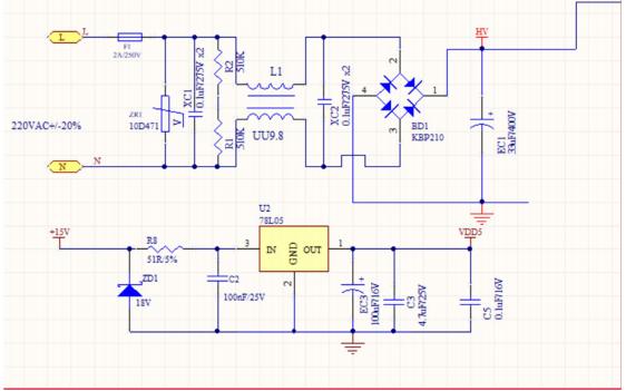 bldc高压无感吊扇驱动电路图合集免费下载