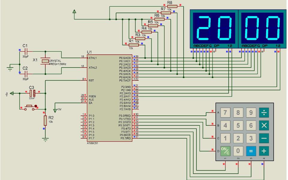 使用51单片机设计的计算器的程序和仿真资料免费下载