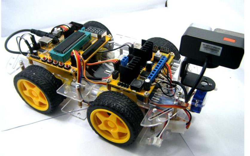 设计智能小车的系列程序包括1602LCD和矩阵及上位机等程序免费下载