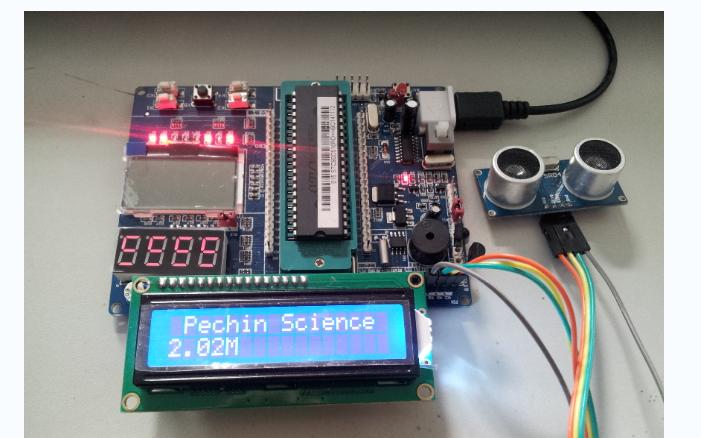 使用单片机设计超声波测距1602显示的程序和接线图免费下载