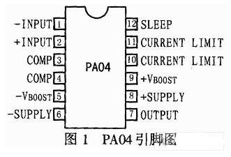 PA04功率放大器的管脚、原理及其应用