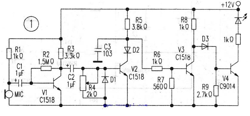 自制简易电子血压计电路图