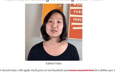斯坦福最新研究成果 編輯有聲視頻算法技術