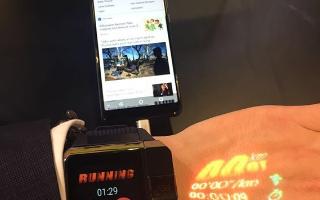 一数ASU Watch亮相 虚拟触控技术惊艳