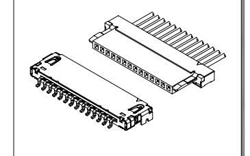 A1004和A1201系列1.00mm节距线对板超薄连接器的数据手册免费下载