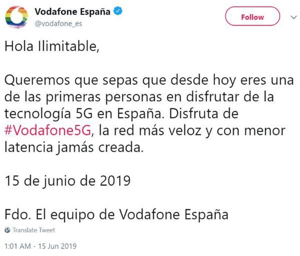 华为助力沃达丰在西班牙正式推出了5G服务