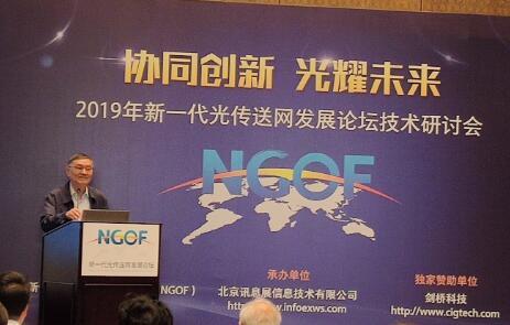 工信部NGOF理事长韦乐平表示我国已经构成了一个完整的光传送网产业链