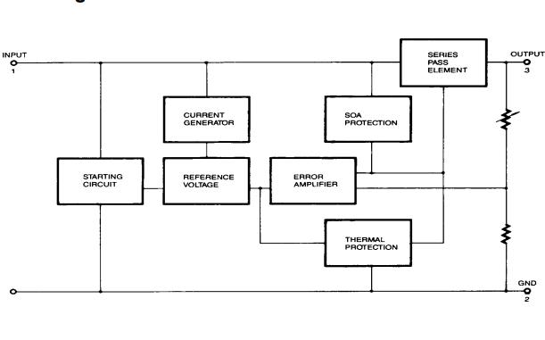 MC78XX和LM78XX及MC78XXA系列三端正调压器的数据手册免费下载
