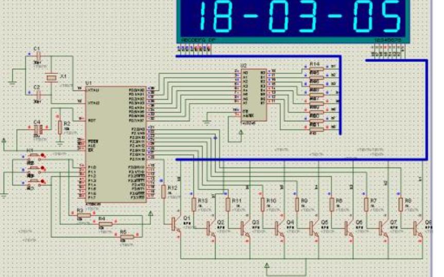 使用51单片机设计显示时间和日期的时钟程序免费下载