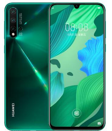 华为nova 5 Pro已在商城开启预定采用了水滴屏设计支持屏幕指纹解锁
