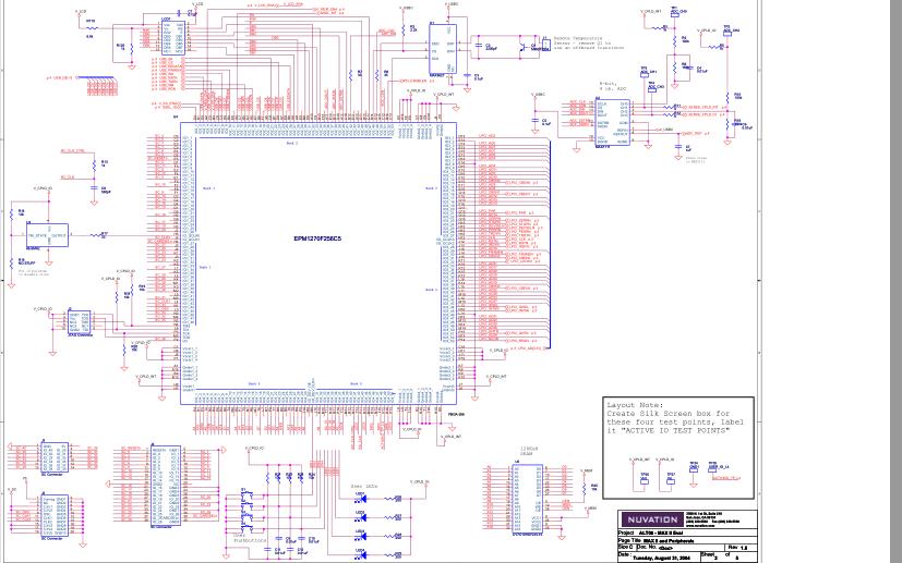 EPM1270 CPLD开发板的电路原理图合集免费下载