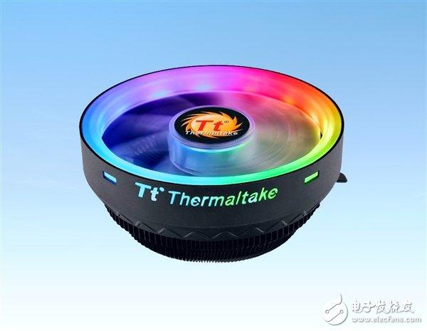 曜越科技推出一款全新下压式CPU散热器 采用了下压式风扇常见的碗状设计