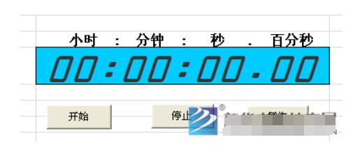 利用Excel制作秒表计时器?