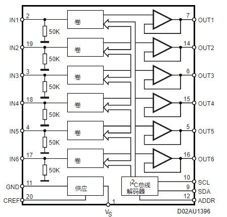 TDA7448音量控制器的特性及应用