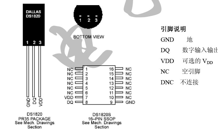 DS1820数字温度传感器的中文数据手册免费下载