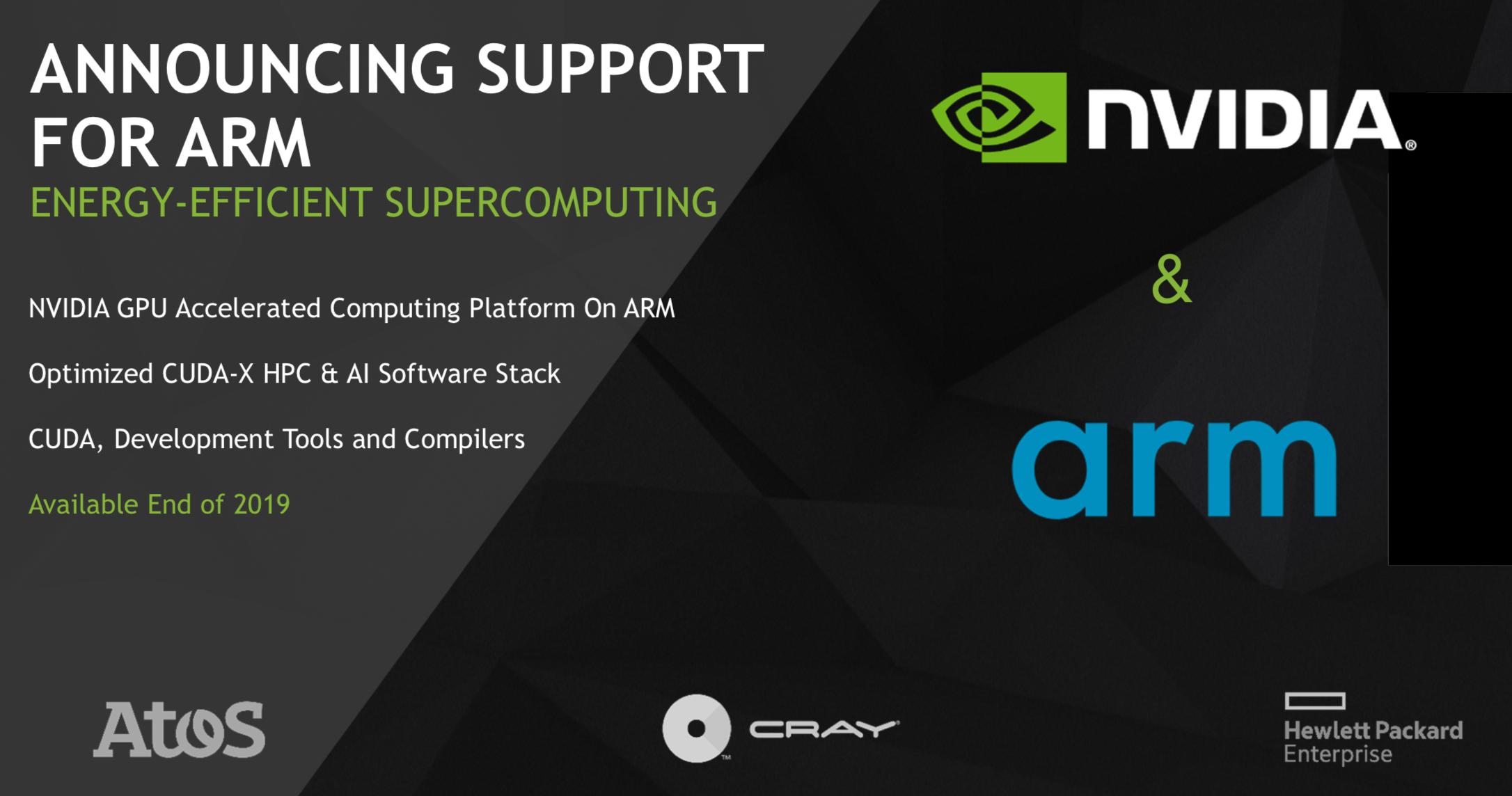 独家解读NVIDIA CUDA支持Arm——百万兆级超算竞争再加剧?