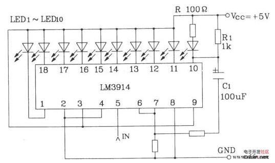 LED电路的组成及其性能分析