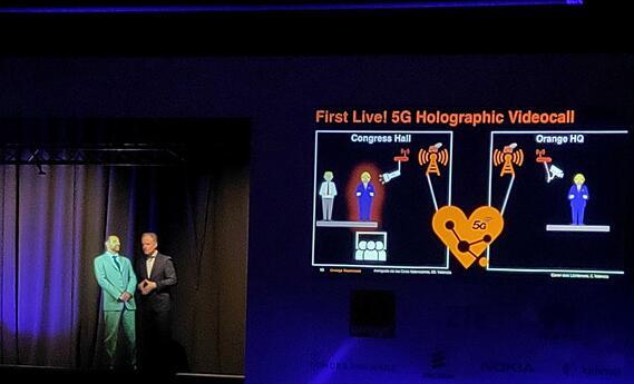 Orange与中兴通讯携手共同展示了基于5G技术...
