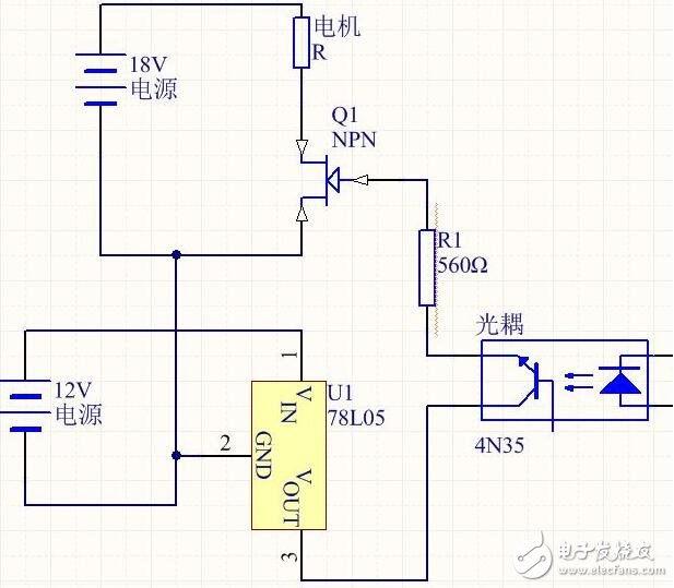 mos管驱动电机电路图